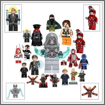Legoing Marvel Ant-Man Ghost Iron Man Super Heroes Action Figures IronMan Pepper Building Blocks Toys For Kids Legoing Marvel DC