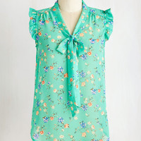 ModCloth Darling Mid-length Sleeveless That's How It Bows Top in Floral