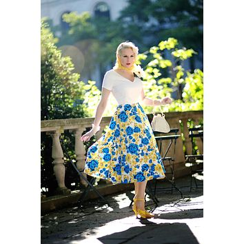Floral Duo Swing Dress- Free Custom Sizing