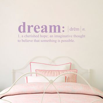 Dream Definition Wall Decal - Dictionary definition Decal - Dream Wall Decal - Medium