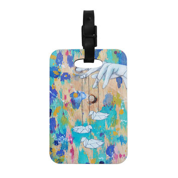 "Kira Crees ""Origami Strings"" Decorative Luggage Tag"