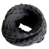 Frost Hats Winter Infinity Scarf for Women IS-1 CHARCOAL Knitted Loop Scarf Frost Hats