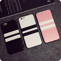 Fashion Pu phone case for iPhone 7 7plus 6 6S 6plus 6Splus 1107JM01