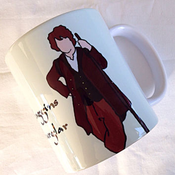 Bilbo Baggins, The Burglar, Lord Of The Rings, Hobbit, 11 ounce ceramic mug, Dishwasher safe
