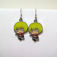 Attack on Titan, earrings, geek, anime, anime earrings