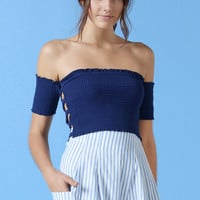 Tara Off The Shoulder Crop Top