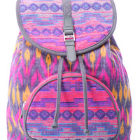 TOMS Departure Ikat Mix Backpack Magenta