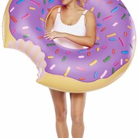 Giant Purple Frosted Donut Pool Float - LAST ONE!