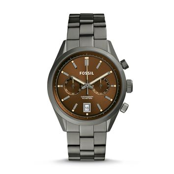 Del Rey Chronograph Watch, Chestnut Brown | FOSSIL