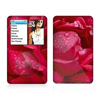 The Drenched Red Rose Skin For The Apple iPod Classic