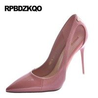 Court Pointed Toe Stiletto Evening Summer 2017 Women Pink 9cm 4 Inch Shoes Black Pumps High Heels Super Extreme Ultra Pointed