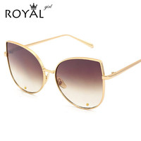 Newest Fashion Cat Eye Sunglasses Women Brand Designer Alloy Frame Sun Glasses  Shades Oculos de sol SS179
