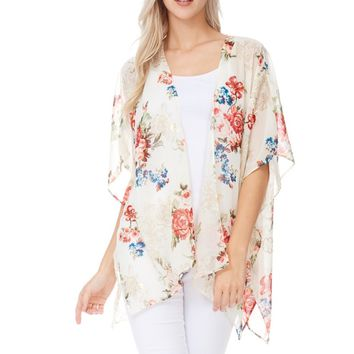 Think That You Are Mine Floral Kimono
