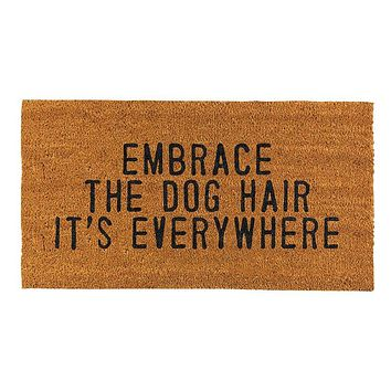 Embrace Dog Hair Everywhere Coir Door Mat