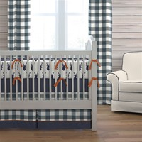 Navy Woodland Crib Bedding