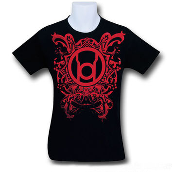 Red Lantern Airbrush T Shirt, Airbrushed Hand Made Red Lantern Corp Shirt, Our Shirt Was Designed for All Red Lantern and Green Lantern Fans