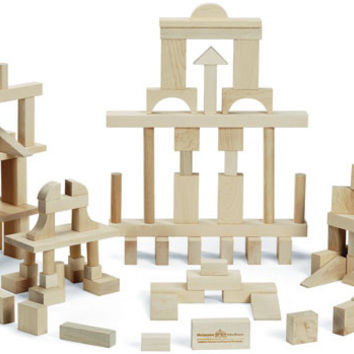 Master Builder: 104 Piece Wood Block Set