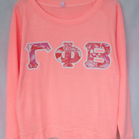 Coral Crew With Lilly On Glitter(71B)