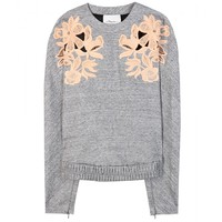 3.1 phillip lim - marl sweater with lace appliqué