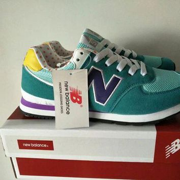 QIYIF new balance 574 women sport casual multicolor n words sneakers running shoes  8
