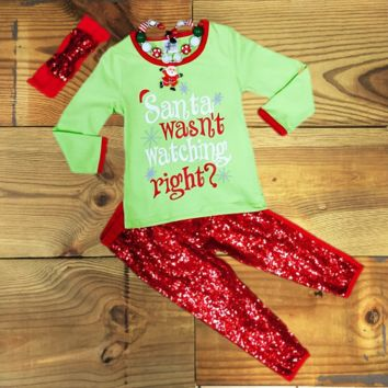 """Santa Wasn't Watching Right?"" Christmas Outfit"