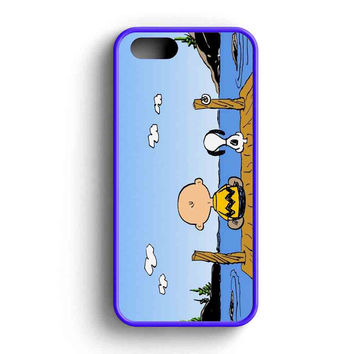 Snoopy And Charlie Together iPhone 5 Case iPhone 5s Case iPhone 5c Case