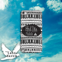Hakuna Matata Tribal Pattern Cool Tumblr Inspired Custom iPod Case for iPod 4th Generation or iPod Touch 5th Generation Case