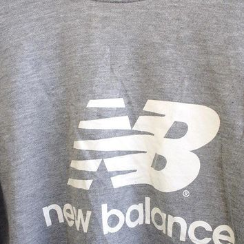 big sale 25 vintage 90 39 s new balance nb streetwear pullover crewneck sweatshirt gray sweater size m
