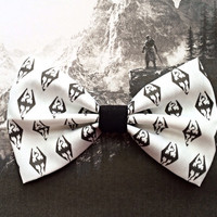 Skyrim Elder Scrolls Inspired Hair Bow or Bow Tie