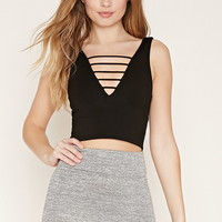 Ladder-Cutout Crop Top