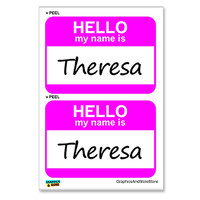 Theresa Hello My Name Is - Sheet of 2 Stickers