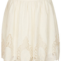 Cream Cutout Lace Skater Skirt - Skirts - Clothing - Topshop