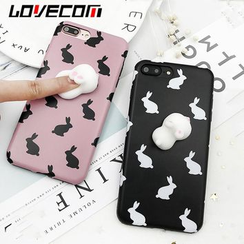 Soft Rabbit Squeeze  For iphone 7 Cases Cover For iphone 6 6S Plus