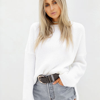 Buy Dove Ribbed Knit Online by SABO SKIRT