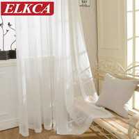 Modern Striped Tulle Curtains for Living Room Window Screening Voile Sheer Curtains for Living Room Bedroom Kids Curtains