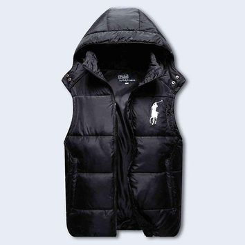 DCCKI2G Polo Ralph Lauren Hooded Warm Vest Waistcoat Cardigan Jacket Coat