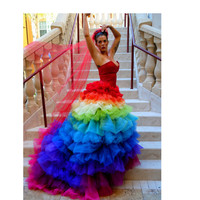 Ricky Lindsay Esperanza Haute Couture Rainbow by FavrileFinds