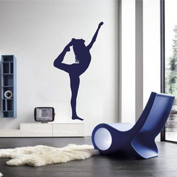 ik2229 Wall Decal Sticker Girl gymnast sports hall bedroom