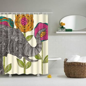 Elephant Shower Curtain - 6 types