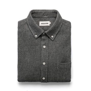 Taylor Stitch - The Jack in Heathered Ash Waffle Long-Sleeve