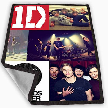 Five Second Of summer and one direction Blanket for Kids Blanket, Fleece Blanket Cute and Awesome Blanket for your bedding, Blanket fleece *