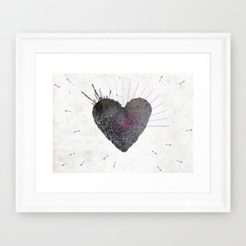 your heart is my target Framed Art Print by Migmig