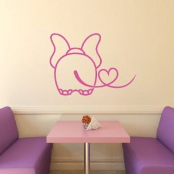 Housewares Vinyl Decal Animal Elephant In Love Home Wall Art Decor Removable Stylish Sticker Mural Unique Design for Any Room