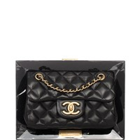 Madison Avenue Couture Chanel Limited Edition Vip Black Frame Bag