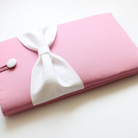 13 inch MacBook Pro/Air/Retina Sleeve,Exquisite home for your Laptop, Padded Case,SUPERIOR Shock Absorbent Foam Padding-Charm Pink,White Bow