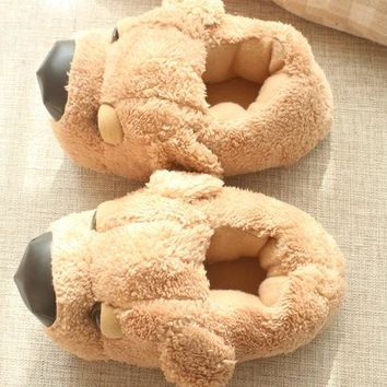 Winter Cotton Cute Dog Slippers