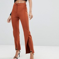 Parallel Lines Trousers With Wrap Front Hem at asos.com