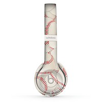 The Baseball Overlay Skin Set for the Beats by Dre Solo 2 Wireless Headphones