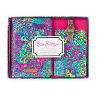 Lilly Pulitzer Luggage Tag and Passport Holder-Lillys Lagoon
