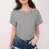 Gabby Shoulder Cut Out Tee